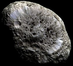 Saturn's Hyperion: A Moon             with Odd Craters.